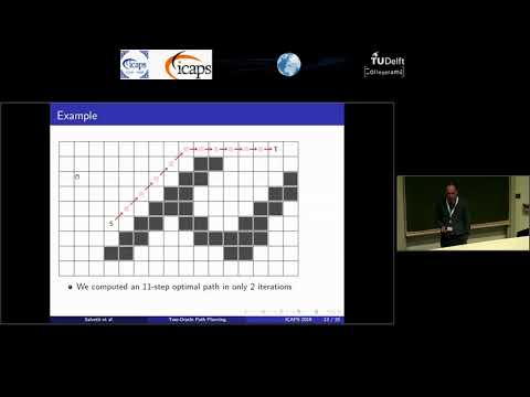 "ICAPS 2018: Adi Botea on ""Two-Oracle Optimal Path Planning on Grid Maps"""