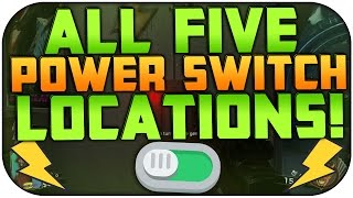 ZOMBIES IN SPACELAND: ALL 5 POWER SWITCH LOCATIONS | HOW TO TURN ON THE POWER | CoD Zombies!