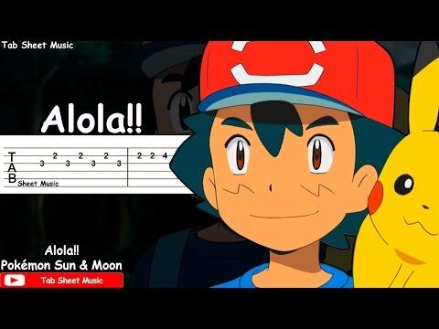 Pokémon Sun & Moon OP - Alola!! Guitar Tutorial