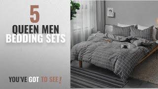 Top 10 Queen Men Bedding Sets [2018]: Bedding Duvet Cover Set Queen - Microfiber Comforter Quilt