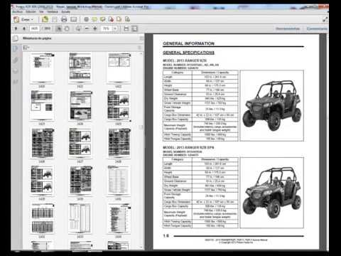 Polaris Rzr 800 2008 2013 Service Manual Wiring Diagram Owners Manual Youtube