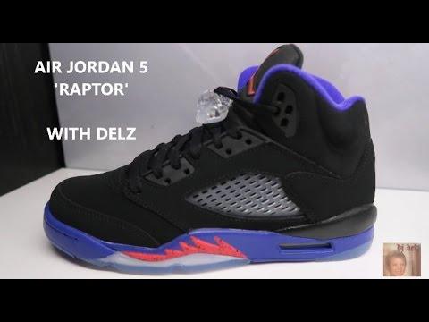 70398c8ec4b7d8 Air Jordan 5 Raptor 2016 Retro Sneaker (Detailed Look) - YouTube