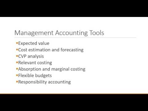 Management Accounting: Introduction to Management Accounting