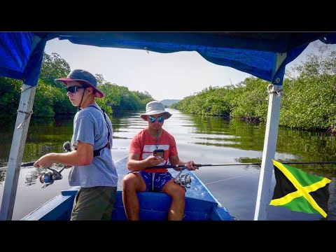 Authentic JAMAICAN Fishing In TROPICAL Jungle River!!