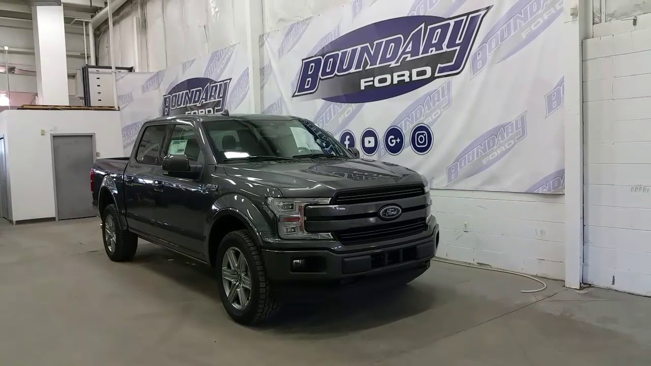 2018 Ford F-150 SuperCrew Lariat Sport 502A Magnetic Overview | Boundary Ford - YouTube
