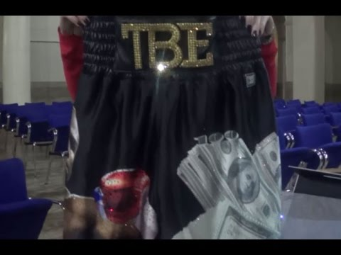 CLOSER LOOK AT TRUNKS MAYWEATHER SAYS HE'S SAVING FOR FIGHT 50; FIGHT LABEL OWNER GIVES DETAILS