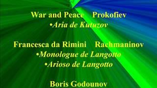 Ivan Petrov   War and Peace   Francesca da Rimini  Boris Godounov