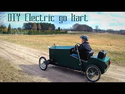 Homemade electric go kart for kids in vintage style – DIY build – part 1