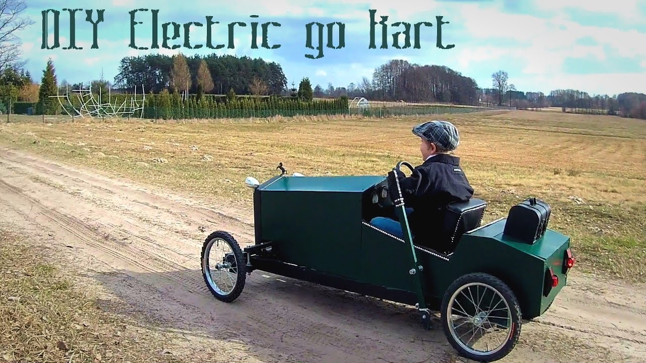 Homemade electric go kart for kids in vintage style - DIY ...