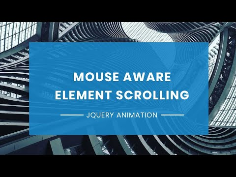 Mouse Aware Content Scrolling Animation   Jquery Plugin Tutorial