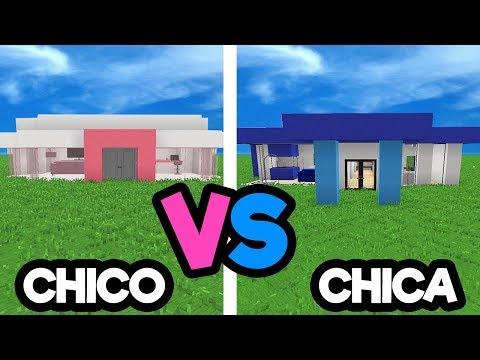 CASA DE CHICO VS CHICA EN MINECRAFT