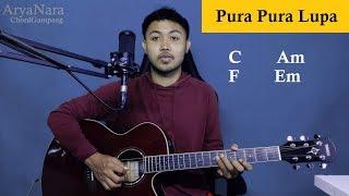 Download lagu Chord Gampang (Pura Pura Lupa - MAHEN) by Arya Nara (Tutorial Gitar) Untuk Pemula