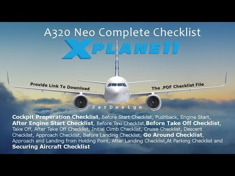 X Plane 11-A320Neo-Complete Checklist|X-Life|Download Checklist|Full