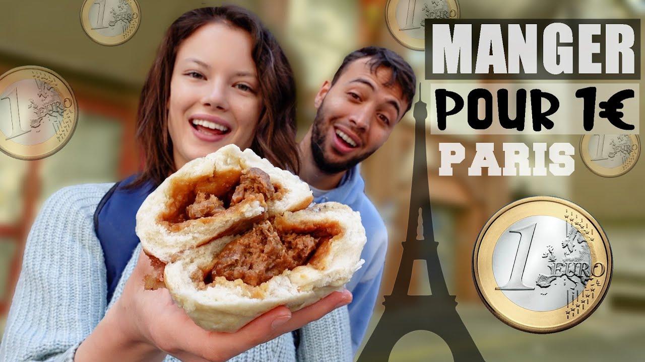 JE MANGE QUE DES TRUCS À 1€ À PARIS (W/ @vito.video) - Claire