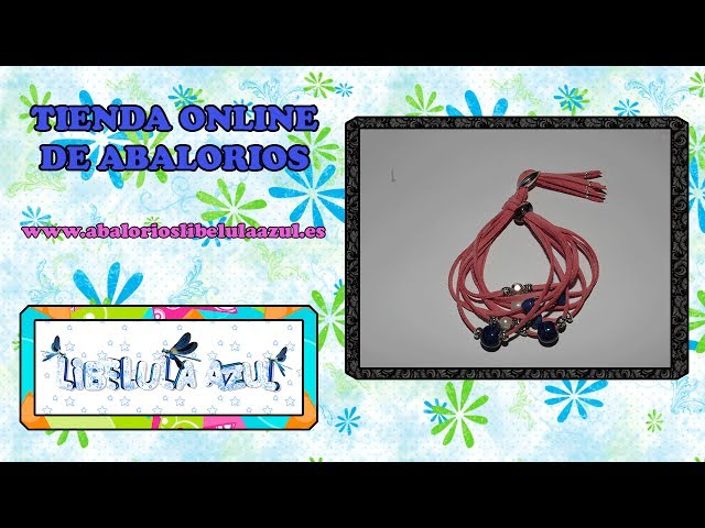 Manualidades bisuteria DIY: pulsera antelina rosa Travel Video
