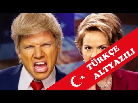 Donald Trump vs Hillary Clinton Epic Rap Battles of History (Türkçe / Turkish CC)