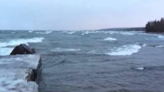 Lake Superior at Sand Hills Lighthouse Inn, December 23, 2012