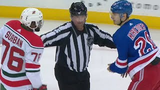 NHL Fights Of The Week: Devils And Rangers Renew Rivalry