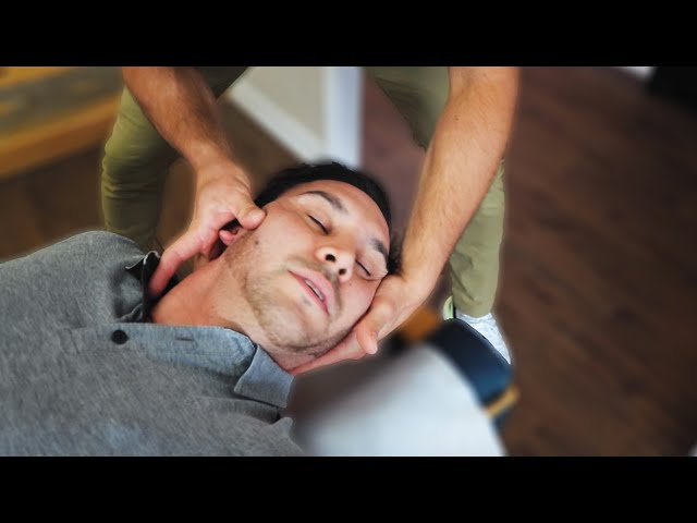 ACHING NECK Gets *HUGE* Release From CHIROPRACTIC ADJUSTMENT