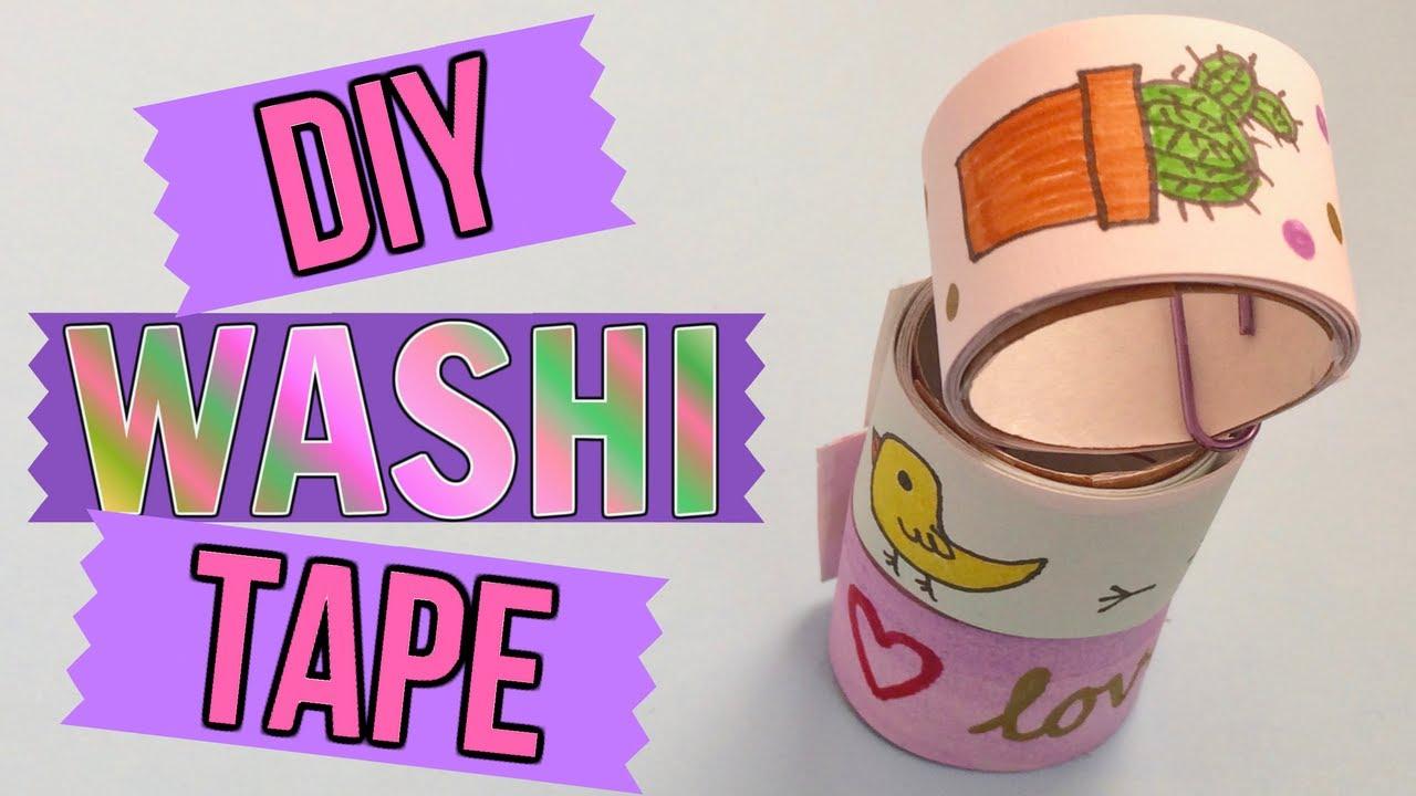 Diy Washi Tape Make Your Own Gift Idea Youtube