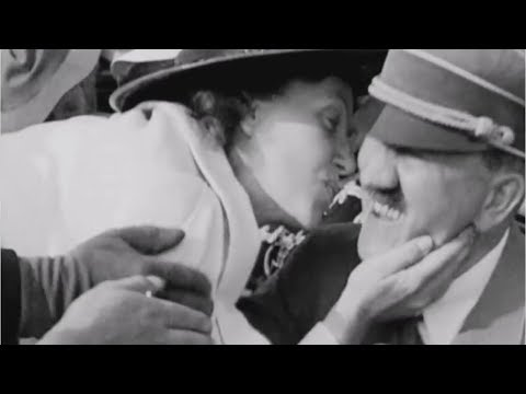 Adolf Hitler kissed by American woman in shocking video