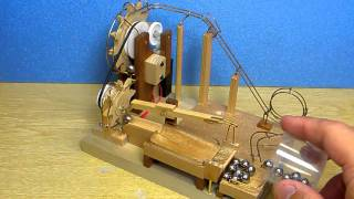 Marble machine with double wheel