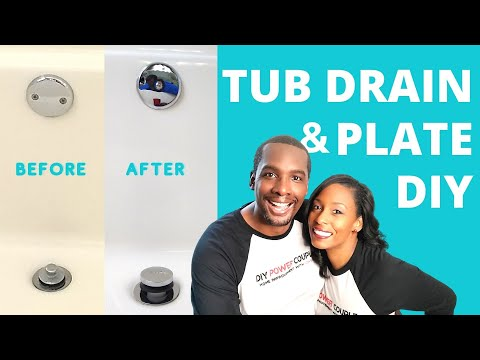 Bathtub Drain Removal and Replacement  | DIY Power Couple