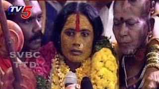 Bhavishyavani speaks at Mahankali Jatara Live  : TV5 News