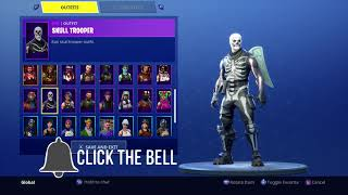 DON DE COMPTE DE SOLDAT DE CRÂNE FORTNITE ALL RARE SKINS GHOUL TROOPER ET PLUS