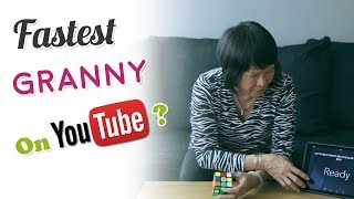 My Mom, Fastest Granny to Solve a Rubik's Cube on Youtube?