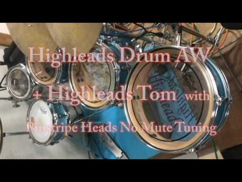talking drum cover with pinstripe heads no mute tuning youtube. Black Bedroom Furniture Sets. Home Design Ideas