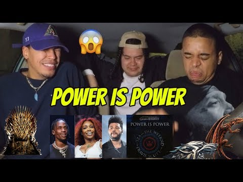 THE WEEKND, TRAVIS SCOTT, SZA - Power Is Power (from Game Of Thrones) REACTION REVIEW