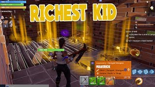 Rich Kid gives me RAREST Guns & Grave Digger in Fortnite Save the World PVE