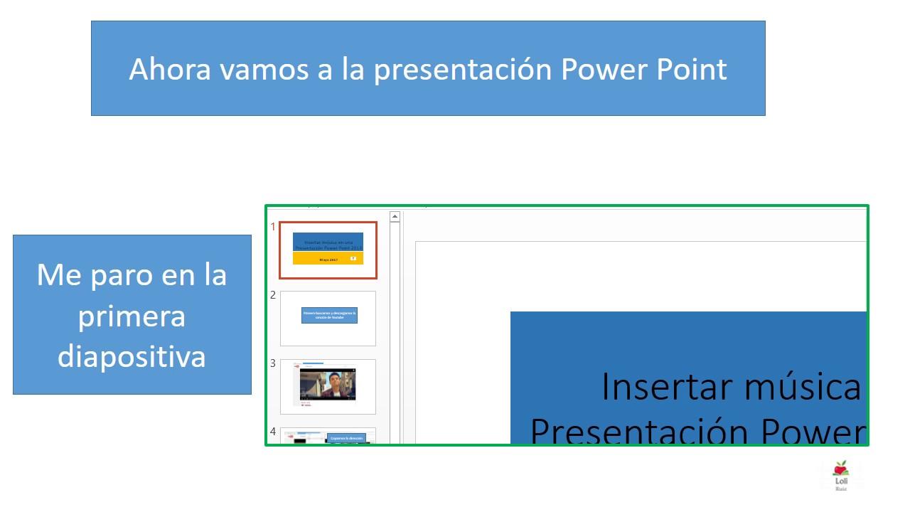 insertar música en una presentación power point youtube