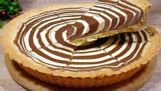 Проще не придумать Невероятно Вкусный Двухцветный Торт Зебра с Нутеллой Рецепт Пирога к Чаю