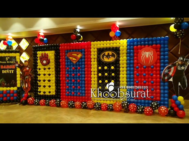 super heros birthday Khoobsurat event 8081265333