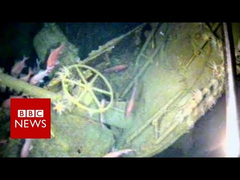 Drone films sub wreck lost for 103 years   - BBC News