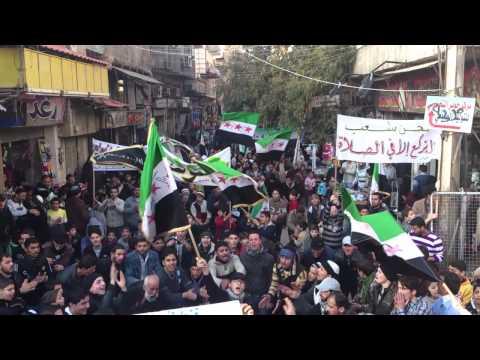 دمشق  جوبر مظاهرة حاشدة 26/12/2012