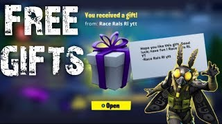 FREE GIFTS GIFTING SYSTEM FORTNITE BATTLE ROYAL