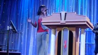 Robynn singing FREE by Kirk Franklin (1NC- one nation crew)