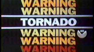 Tornado Warning Bulletin From 1984,1986