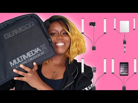 Glamcor Multimedia X Content Creation Kit Unboxing and Review..Glamcor lights.. Cheche Okoye