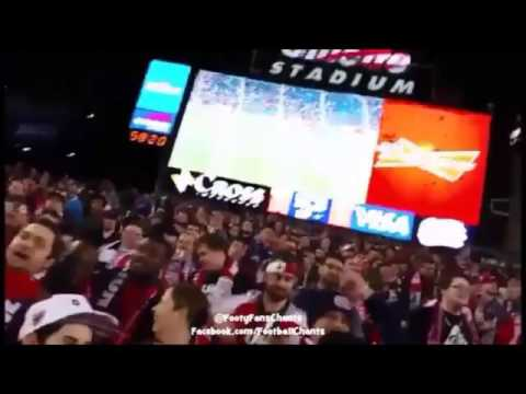 American football fans vs English football fans.