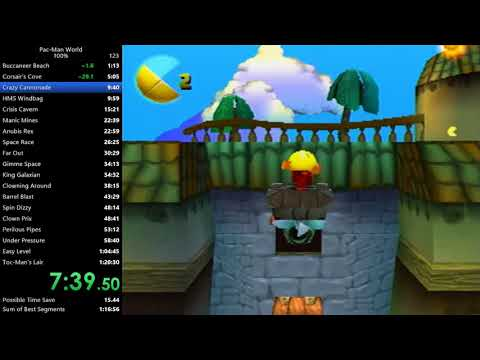 Pac-Man World 100% Speedrun In 1:19:39