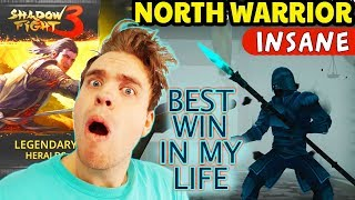 Shadow Fight 3. INSANE North Warrior - HARDEST Boss in Shadow Fight 3. AWESOME Legendary Pack!