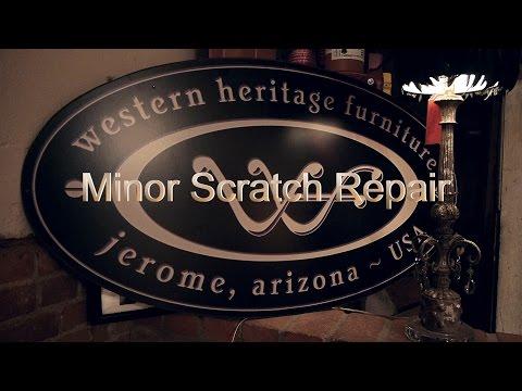 DIY Minor Scratch Repair - Western Heritage Furniture - Reclaimed Barnwood