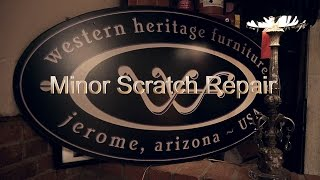 Diy Minor Scratch Repair - Western Heritage Furniture - Reclaimed Barnwood