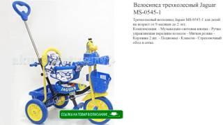 Велосипед трехколесный Jaguar MS-0545-1 игрушки для детей обзор
