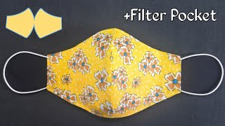 Very Easy New Style Pattern Mask Face Mask Sewing Tutorial Anyone Can Make This Mask Easily