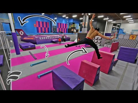 Thumbnail: SUPER TRAMPOLINE PARK OBSTACLE COURSE